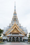 The great marble church, Wat Sothorn, Chachoengsao, Thailand Royalty Free Stock Image