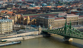 Free Great Market Hall And Liberty Bridge In Budapest Stock Photography - 91317992
