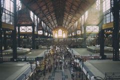 Great Market Hall - Budapest. Interior of the Great Market Hall, the oldest indoor market in Budapest Stock Photo