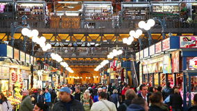 The Great Market Hall in Budapest stock video