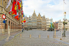 The Great Market Square of Antwerp Royalty Free Stock Images