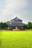 Great meadow and Hall. Sun Yat-Sen Memorial Hall,a traditional chinese imperial building, landmark of Guangzhou,Guangdong,China Royalty Free Stock Photography