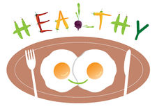 Great meal for breakfast ,Healthy food ,Vector illustrations Royalty Free Stock Images