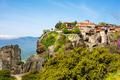 The Great Meteoro Monastery in Meteora rocks, Kalambaka, Trikala, Greece Stock Image