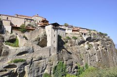 The Great Meteoron Monastery of Meteora from Kalambaka region in Greece Stock Image