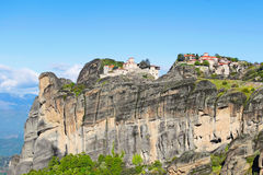 The Great Meteoron and Varlaam Monastery in Meteora, Greece Royalty Free Stock Photography
