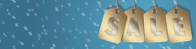 Great mid season Sale - sale web banner. Black friday and season sale - discount sign - leaflet royalty free illustration