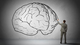 Great mind. Concept image Royalty Free Stock Photography