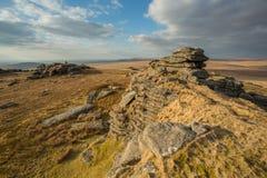 Great Mis Tor. Dartmoor devon Uk Royalty Free Stock Images