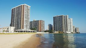 Water City Chicago. A great mix of architecture and views of water along Hollywood beach Royalty Free Stock Photos