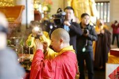 Great monk zewu ( 1974- ) pray Royalty Free Stock Image