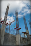 Great monolit buildig. Monolithic frame construction of the building royalty free stock images