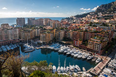 A great Monte Carlo Skyline in French Riviera. Monte carlo Skyline in French Riviera during a sunny day Royalty Free Stock Photo
