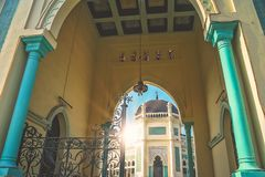 Great Mosque of Al-Mashun in Medan. Entrance to the Great Mosque of Al-Mashun in Medan, Sumatra, Indonesia Stock Photography
