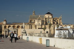 Great mosque and cathedral view, Cordoba, Andalusia Royalty Free Stock Image