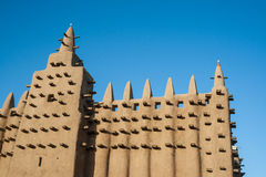 The Great Mosque of Djenné, Mali, Africa. The Great Mosque of Djenné is the largest mud brick or adobe building in the world and is considered to be the Stock Images