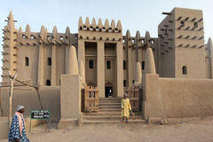 Great mosque of Djenne, Mali. Largest mud building in the world Stock Images