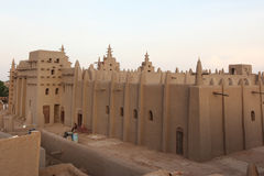 Great mosque of Djenne, Mali. Most famous and largest mud building in the world Royalty Free Stock Images