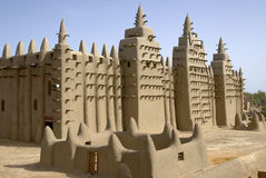 The Great Mosque of Djenne. Mali. Africa. The Great Mosque of Djenné is the largest mud brick or adobe building in the world and is considered by many Stock Images