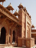 Great mosque gate. Fatehpur Sikri ghost city Royalty Free Stock Photos