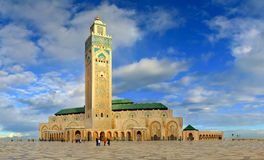 Great Mosque of Hassan II with beautiful sky, Casablanca - Morocco Stock Image