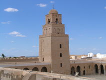 Great Mosque of Kairouan  (Tunisia). The Great Mosque in Kairouan (Tunisia), the fourth holy city of Islam in the world Royalty Free Stock Photos