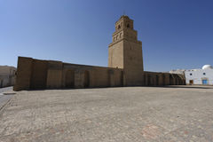 Great Mosque of Kairouan in Tunisia. The Great Mosque of Kairouan, also known as the Mosque of Uqba, is one of the most important mosques in Tunisia, situated in Royalty Free Stock Image