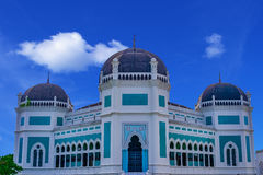 Great Mosque of Medan. Sumatra, Indonesia, Southeast Asia. Built in 1906 Stock Photo