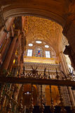 Great Mosque Mezquita interior in Cordoba Spain. Religion architecture background Stock Image