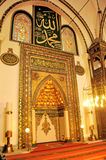 Great mosque mihrab Bursa, Turkey Royalty Free Stock Photography