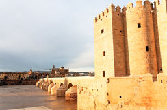 The Great Mosque and Roman Bridge, Cordoba, Spain Royalty Free Stock Images
