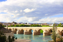 Great Mosque and Roman Bridge, Cordoba, Spain Stock Image