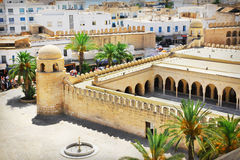 Great Mosque in Sousse. Aerial view on the Great Mosque in Sousse, Tunisia Royalty Free Stock Image