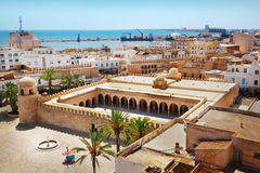 Great Mosque in Sousse. Aerial view on the Great Mosque in Sousse, Tunisia Stock Image