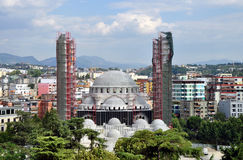 The Great Mosque of Tirana, is a mosque which is currently being built in Tirana, Albania. Royalty Free Stock Photos