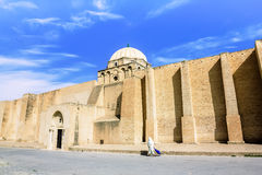 The great mosque in the town of Kairouan in Tunisia Royalty Free Stock Image