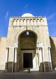 The great mosque in the town of Kairouan in Tunisia Stock Photos