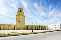 The great mosque in the town of Kairouan in Tunisia Stock Photo