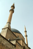 Great mosque. And two minarets in Urfa, Turkey Royalty Free Stock Images