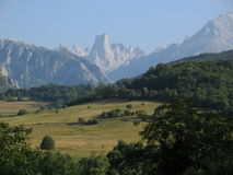 Great mountain. Naranjo de Bulnes,Asturias,Spain royalty free stock images
