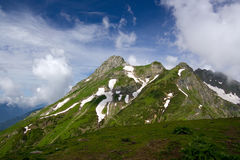 Great Mountain. View to big Mountain up to 3500 meters Royalty Free Stock Images