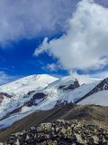 Great mountain Elbrus covered by snow stock image