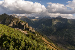 Great mountain peaks in autumn landscape. Tatry.  royalty free stock images