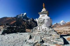 Himalayas. Great mountain views of Himalayas in Nepal trekking on the way to Everest base camp Stock Photos