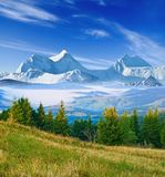 Great mountains in a mist Royalty Free Stock Image