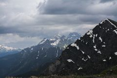 Great Mountains View. Close up royalty free stock images