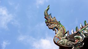 Great naga decorated with stained glass Stock Image