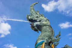 Great naga spray water Royalty Free Stock Photography