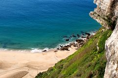 Wonderful landscape at the Atlantic west coast in Portugal stock photography