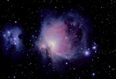 Great nebula. The great orion nebula is a diffuse nebula situated in the constellation of orion, and is visible to the naked eye stock photography
